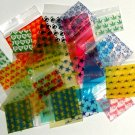 "1000 Apple Baggies 0.75 x 0.75"" Mixed Designs mini zip lock bags"