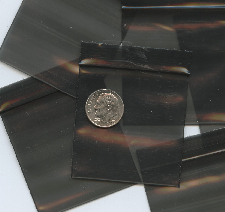 "1000 Black Apple Baggies 2 x 2"" Small Ziplock Bags 2020"