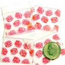 100 Red Dice Baggies 12510 Apple® Brand Bags 1.25 x 1 in.