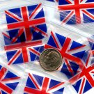 "100 Union Jack 3 mil Apple baggies 1.5 x 1.5"" Mini Zip lock Bags 1515"