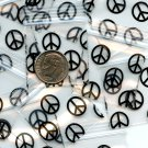 "100 Peace Sign Apple baggies 1.25 x 125"" Mini Zip lock Bags 125125 B2G1 Free"
