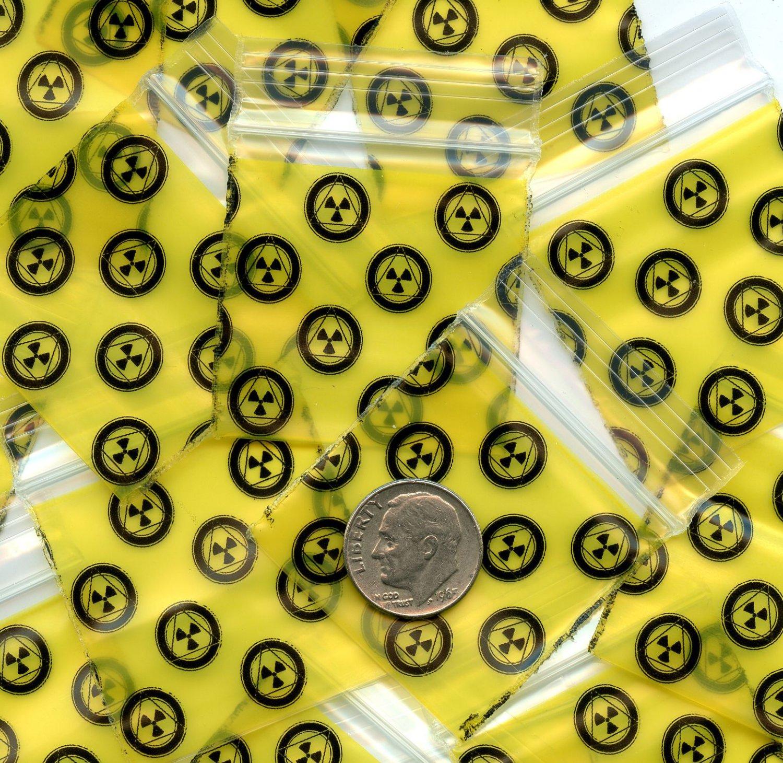 "100 Apple baggies Radioactive1.5 x 15"" Mini Zip lock Bags 1515...B2G1 Free!"