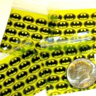 "100 Batman Apple Baggies 2 x 2"" Mini Zip lock Bags 2020"