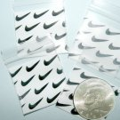 "100 Swoosh Apple baggies 1.5 x 1.5"" Mini Zip lock Bags 1515 (L) B2G1 Free"