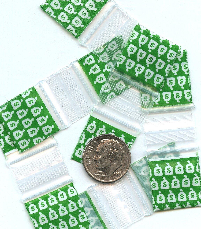 "100 Money Bags Baggies 3434 zip lock 0.75 x 0.75"" Apple Brand"