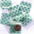"100 Green Leaves Baggies 1.25 x 1.25"" Small Ziplock Bags 125125"