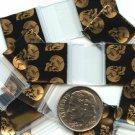 """100 Skull Design Apple Baggies 5858 zip lock bags 5/8"""" x 5/8"""""""
