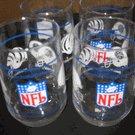 Set of 4 Vintage NFL Drinking Glasses featuring old AFC Central Teams