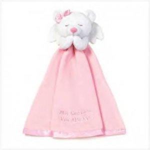 #36626 Girl's Angel Bear Security Blanket