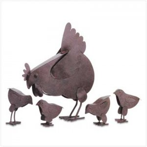 #31170 Hen With Chicks Sculpture