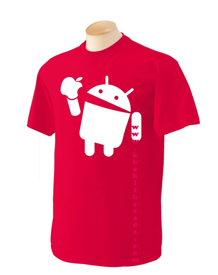 Android eats Apple Geek T-Shirt