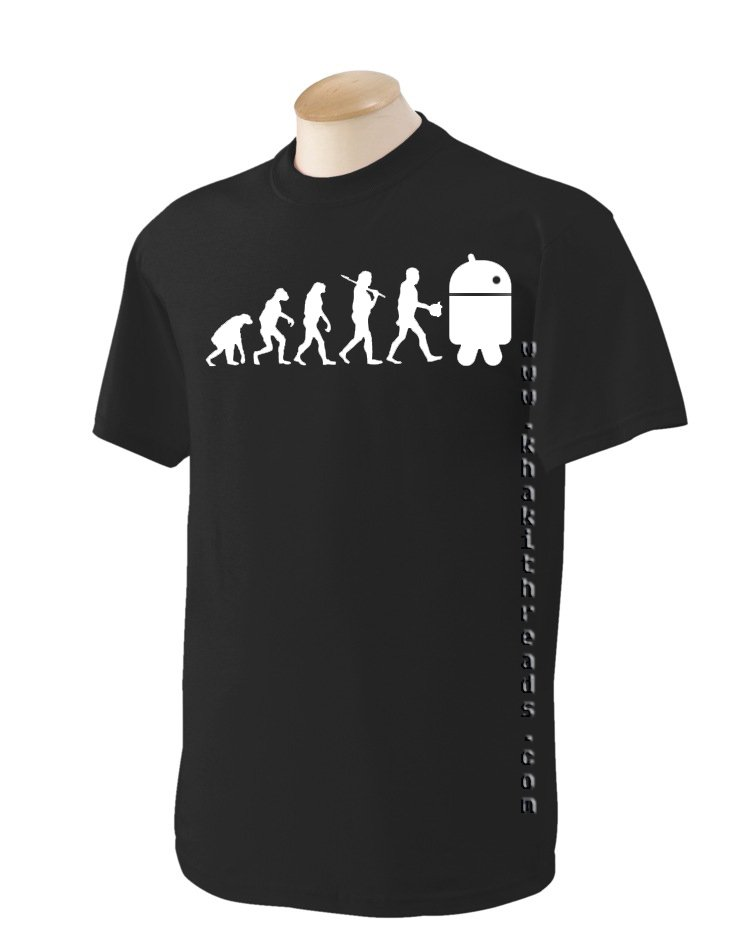 evolution to android Geek T-Shirt