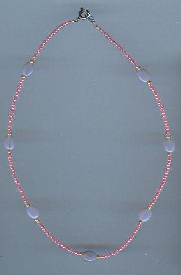 Pink Seed Bead Necklace