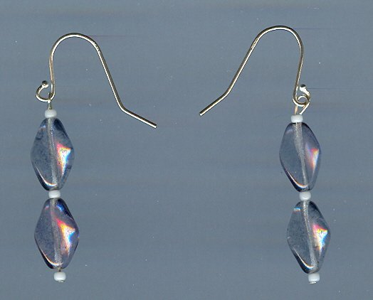 Light Blue Beaded Earrings