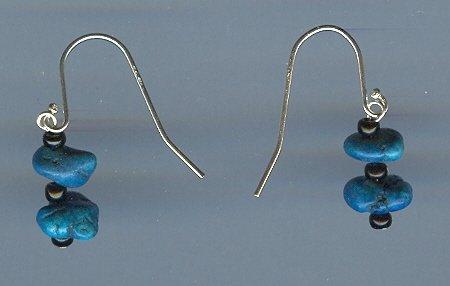 Dyed Onyx and Black Onyx Earrings