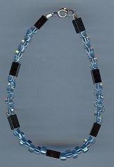 Hematite and Glass Bead Bracelet