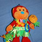 Infantino MONKEY Rattle Crinkle Baby Toy Lovey 10""