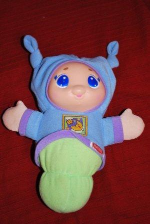 """Playskool PLUSH GLOWORM Musical GLOW Baby Toy ~10"""" EUC"""