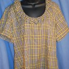 NWT $95 HARLOD'S Gold Black Blouse Top Womens Size XL