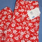 NEW Liz Claiborne Capris Red & White Size 10 Petite NWT