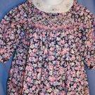 Sophie Dess SMOCKED Dress Navy Pink Floral Size 6M LNC