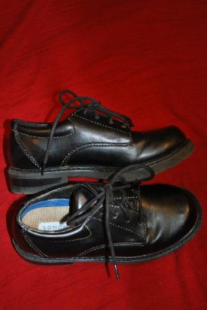Boys SONAMA LIFESTYLE BLACK Dress Shoes Size 1M EUC