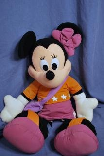 "GIANT Plush MINNIE MOUSE 28"" Plush DISNEY EUC"