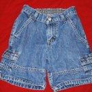 Boys WRANGLER Denim Cargo Shorts Size 5 EUC