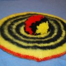 Dress McLeod 100% Wool TAM Hat Red Yellow Black EUC