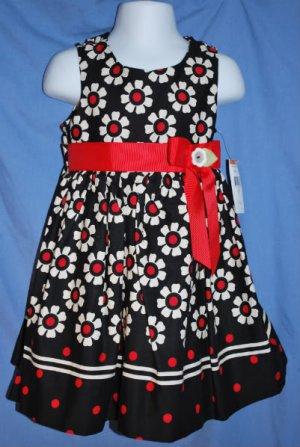 NWT ~ Bonnie Jean Dressy Sundress Black White Size 3T