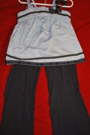 GYMBOREE 2 piece Blue & Navy Pants & Tank Size 5 GUC