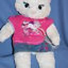 "Build a Bear SASSY CAT with Unicorn T & Skirt ~20"" EUC"