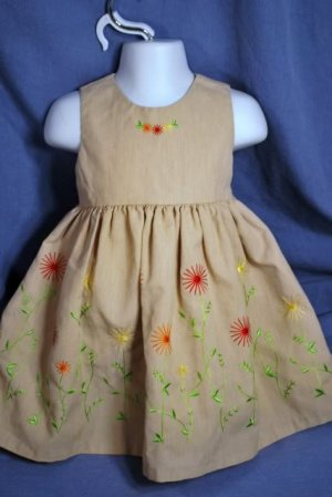 GOODLAD Embroidered Special Occassion Dress Size 2T EUC