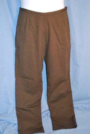 LANDS' END Chocolate Brown Pants Size 12 Petite