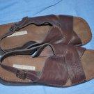 EASY SPIRIT Dark Brown Leather Sandals Size 9.5B EUC