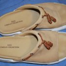 BASS Co Collection Khaki Suede Slides Shoes Size 9M EUC