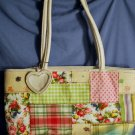BUENO Pink & Green Plaid Handbag 16 x 10 GUC