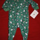 NEW CARTER'S Holiday Christmas Winter Fuzz Free Fleece Pajamas PJs Size 6M NWT