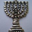 Ezi Zino Jerusalem Temple Menorah Lamp Judaica Jewish symbol silver 925 pendant