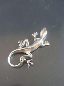 Solid Sterling Silver 925 Lizard Pendant