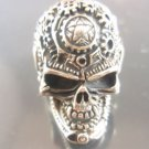 Reaper MACHANIC GEARS BIOMECHANICAL skull H.R GIGER ring solid sterling silver
