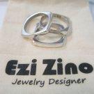 ezi zino designer Set of Three Square shape Stacking Rings sterling silver 925