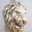 925 Sterling Silver Lion Head king of the Jungle elvis Charm Pendant