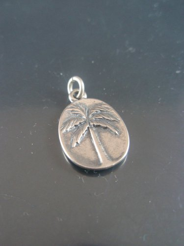 Sterling Silver 925 Palm Tree Charm pendant