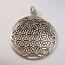Flower of Life Sacret Kabbalah 925 Silver Pendant david