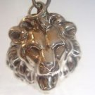 925 Solid Sterling Silver Lion Head Charm Pendant ELVIS TTWII