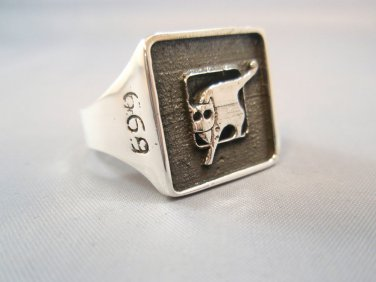 Sterling Silver 925 Unit 669 Airborne Rescue and Evacuation Israeli Army ring