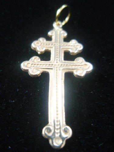 Cross of Lorraine Magnum Pi Team  Pendant  -14k yellow gold