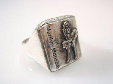 Marilyn Monroe Portrait Ring Sterling Silver 925