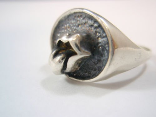 SOLID Sterling Silver 925 Rolling Stones Keith Richards Ring